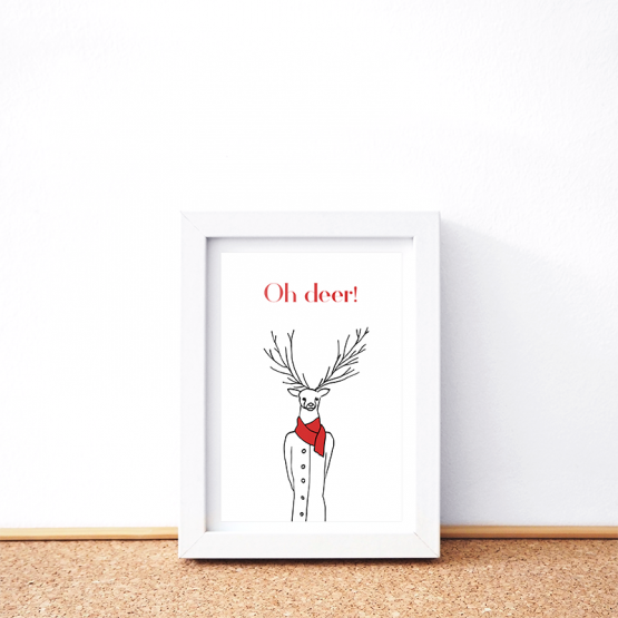 Oh deer card