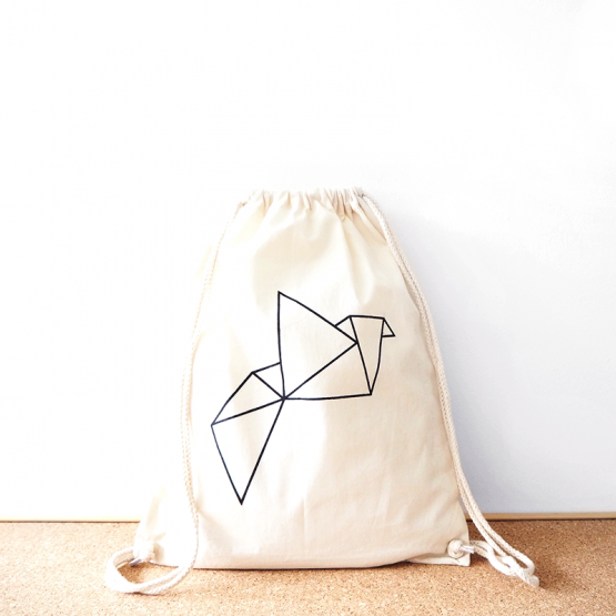 Origami cotton backpack