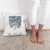 Bad hair day cotton tote bag