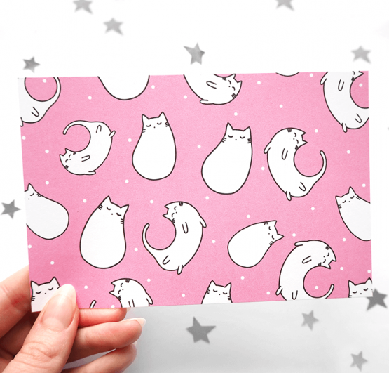Crazy cats card