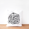 Geometric cotton tote bag