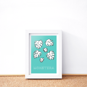 Monstera card
