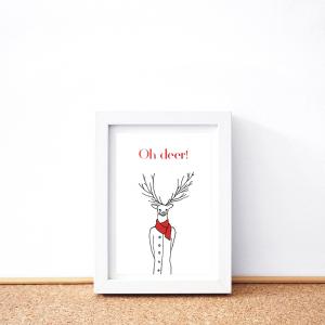 Oh deer card
