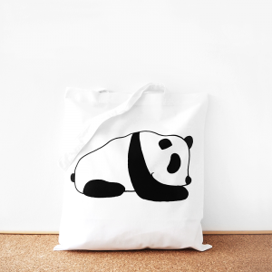 Panda cotton tote bag