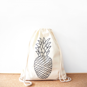 Pineapple cotton backpack