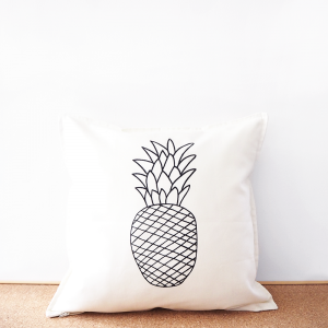 Pineapple cotton cushion cover