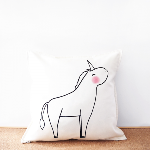Unicorn cotton cushion cover