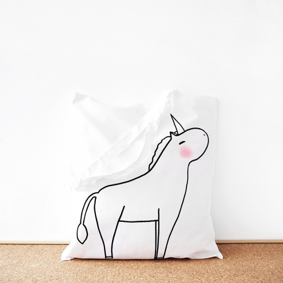 Unicorn cotton tote bag