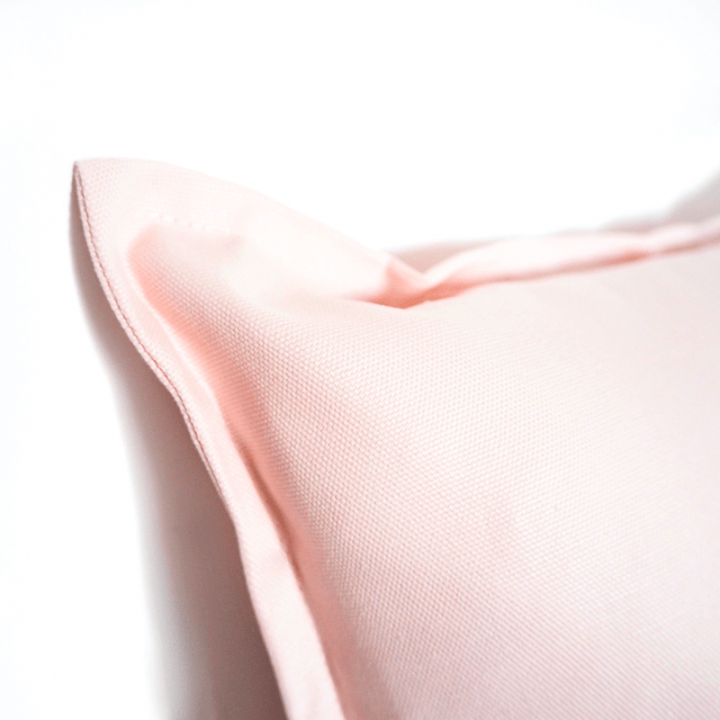 Pink cotton cushion cover