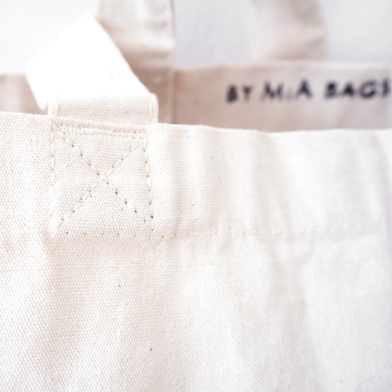 Cat princess organic cotton tote bag