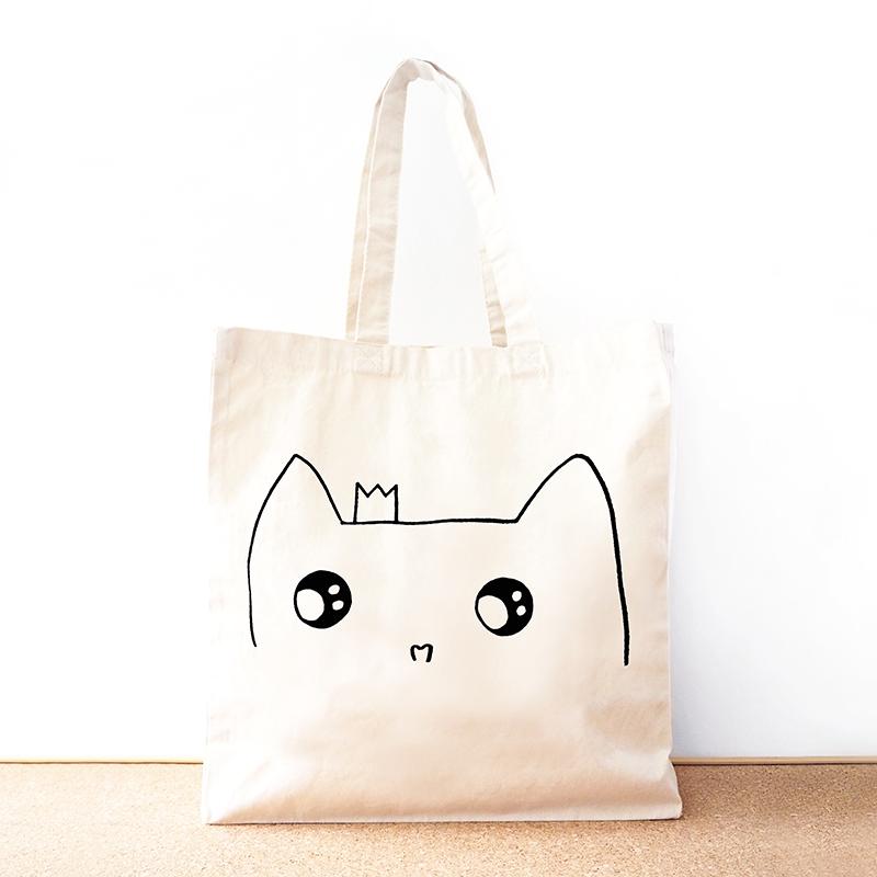 2c72abab5bd5e Cat Princess Organic Cotton Totes - By Mia bags