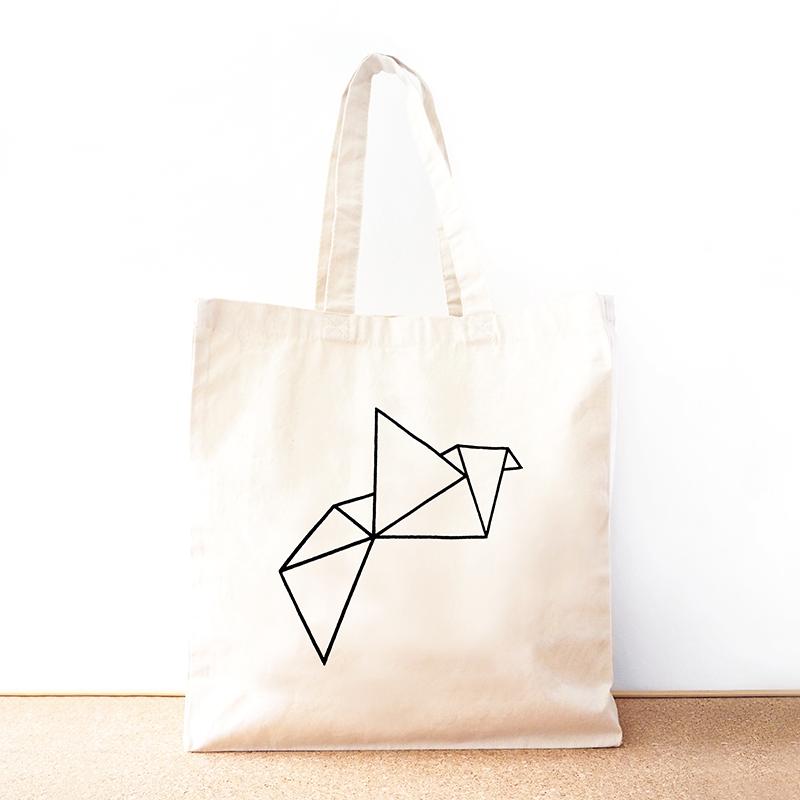 Origami Organic Cotton Tote Bag