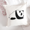 Panda cotton cushion cover