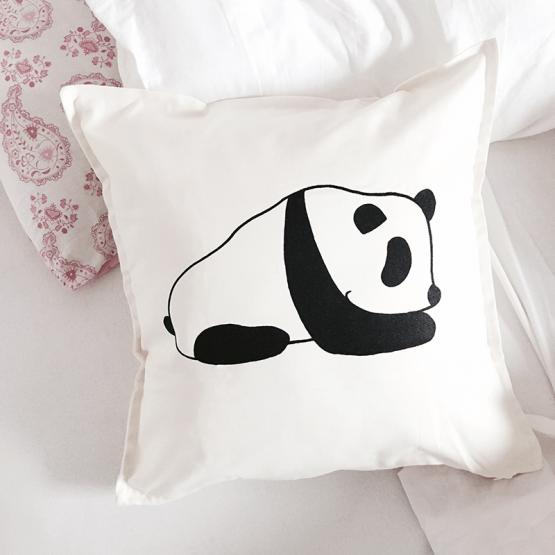 Panda cotton cushion cover
