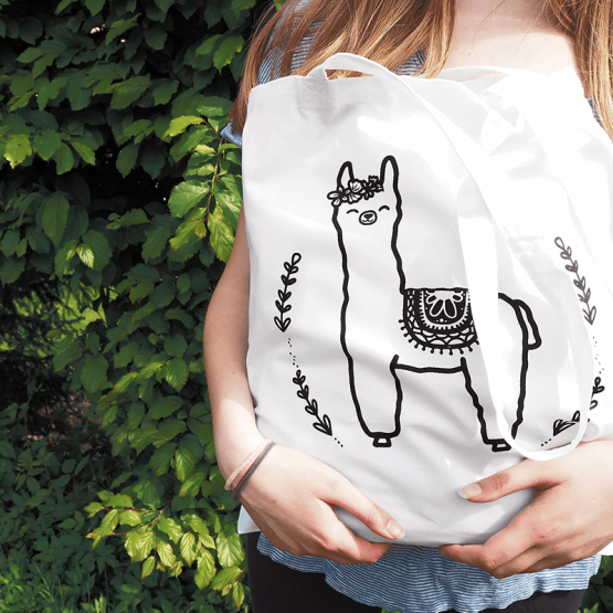 Alpaca cotton tote bag