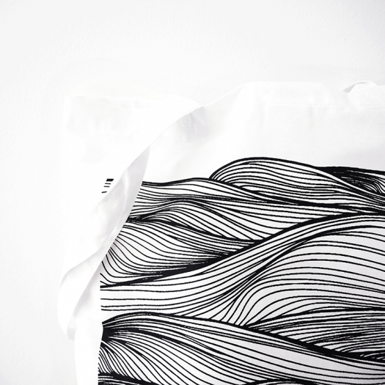 Wave cotton tote bag