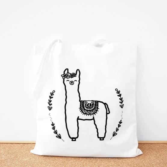 Alpaca cotton tote bag