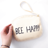 Bee cotton pouch bag