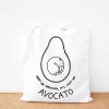 Avocato cotton tote bag