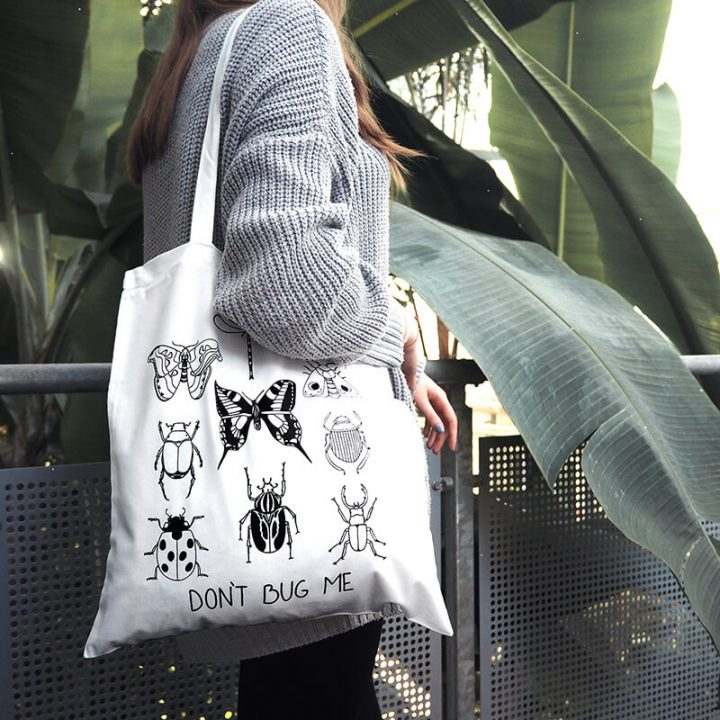 Bugs cotton tote bag