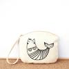 Sea kitty cotton pouch bag